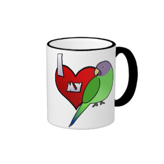 Amo mi Parakeet de Plumheaded (la gallina) Taza