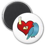 Amo mi Parakeet indio de Ringneck Iman De Nevera