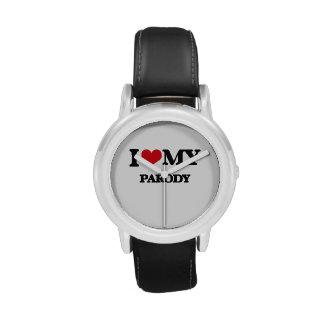 Amo mi PARODIA Relojes De Mano
