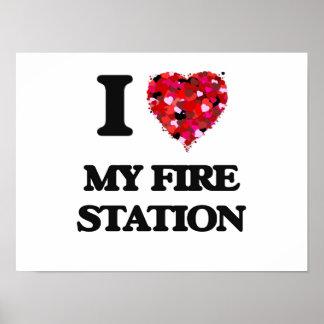 Amo mi parque de bomberos póster
