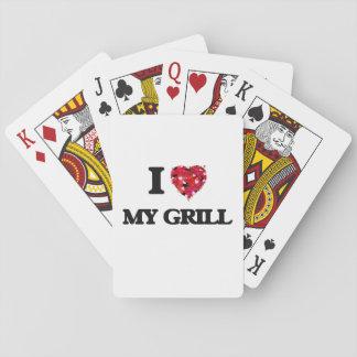 Amo mi parrilla baraja de cartas