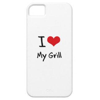 Amo mi parrilla iPhone 5 funda
