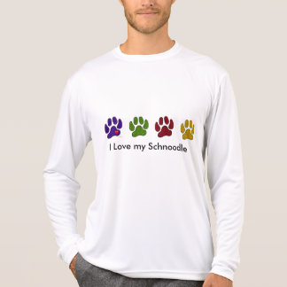 Amo mi paseo de Schoodle la camisa del perro