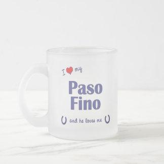 Amo mi Paso Fino (el caballo masculino) Taza De Cristal