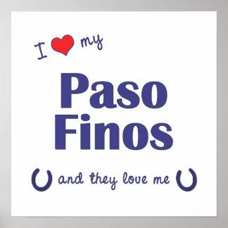 Amo mi Paso Finos (los caballos múltiples) Posters