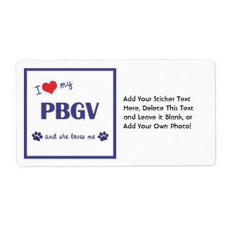 Amo mi PBGV el perro femenino Etiquetas De Envío