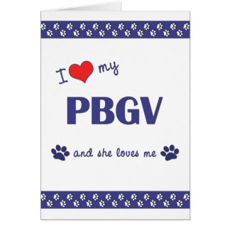 Amo mi PBGV el perro femenino Felicitacion