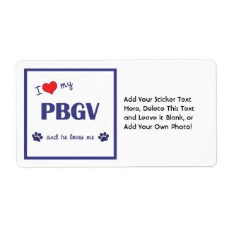 Amo mi PBGV el perro masculino Etiquetas De Envío
