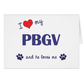 Amo mi PBGV el perro masculino Felicitación