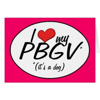 Amo mi PBGV es un perro Felicitacion