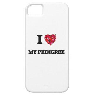 Amo mi pedigrí iPhone 5 fundas