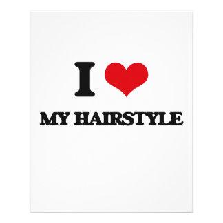 Amo mi peinado tarjetas publicitarias