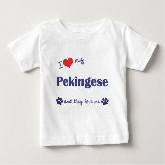 Amo mi Pekingese (los perros múltiples) Playera