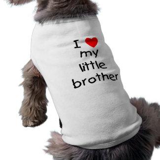 Amo mi pequeño Brother Playera Sin Mangas Para Perro