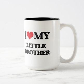 Amo mi pequeño Brother Taza De Dos Tonos