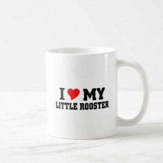 Amo mi pequeño gallo taza