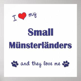 Amo mi pequeño Munsterlanders (los perros múltiple Impresiones