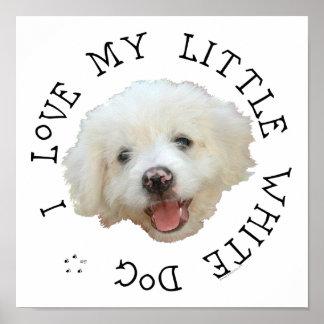 Amo mi pequeño perro blanco del rescate impresiones