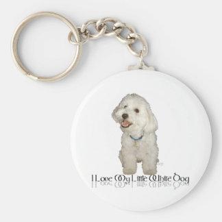 Amo mi pequeño perro blanco - Havanese Llavero Redondo Tipo Pin