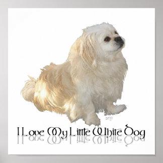 ¡Amo mi pequeño perro blanco - Pekingese! Impresiones
