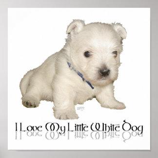 Amo mi pequeño perro blanco - perrito de Westie Impresiones