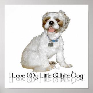 Amo mi pequeño perro blanco - Shih Tzu Impresiones