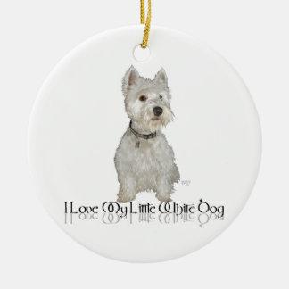 Amo mi pequeño perro blanco - Westie Adorno Para Reyes