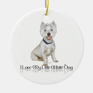 Amo mi pequeño perro blanco - Westie Adorno