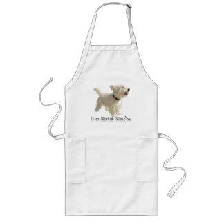Amo mi pequeño perro blanco - Westie Delantal Largo