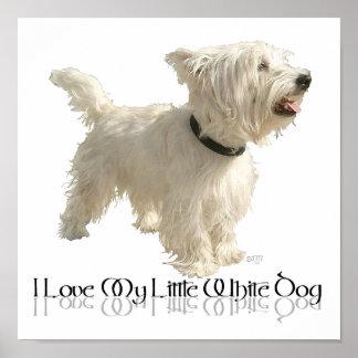 Amo mi pequeño perro blanco - Westie Impresiones