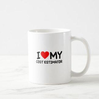 Amo mi perito del coste taza de café