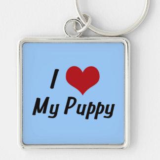 Amo mi perrito - muchacho llaveros personalizados