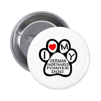 Amo mi perro alemán del indicador de pelo corto pins