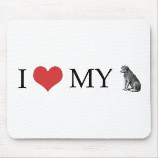 Amo mi perro alfombrillas de ratones