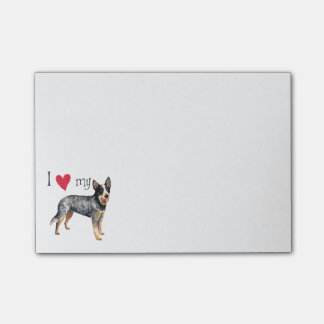 Amo mi perro australiano del ganado notas post-it