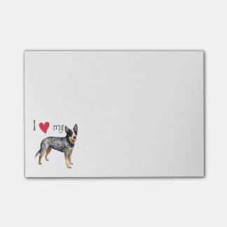 Amo mi perro australiano del ganado notas post-it®