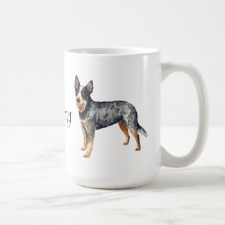 Amo mi perro australiano del ganado taza básica blanca