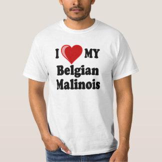 Amo mi perro belga de Malinois Playera