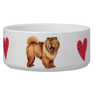 Amo mi perro chino bol para perro