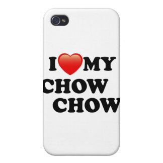 AMO MI PERRO CHINO DE PERRO CHINO iPhone 4/4S CARCASA