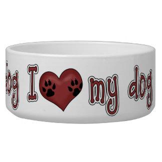 Amo mi perro - cuenco grande comedero para mascota