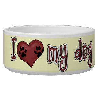 Amo mi perro bol para perro