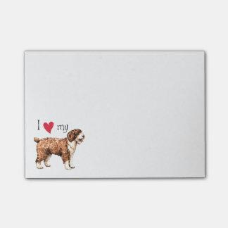 Amo mi perro de agua español notas post-it