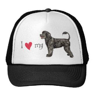 Amo mi perro de agua portugués gorras
