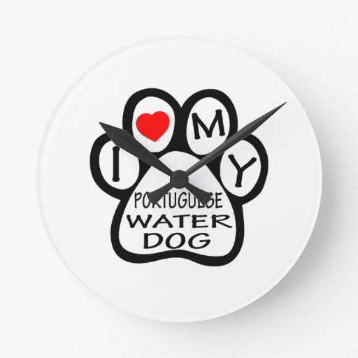 Amo mi perro de agua portugués relojes