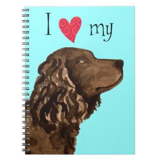 Amo mi perro de aguas de agua americana spiral notebooks