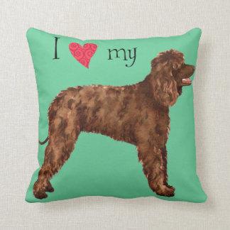 Amo mi perro de aguas de agua irlandesa almohada