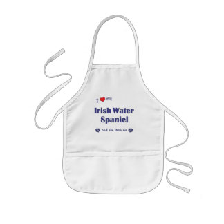 Amo mi perro de aguas de agua irlandesa (el perro  delantal infantil