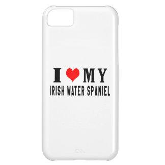 Amo mi perro de aguas de agua irlandesa