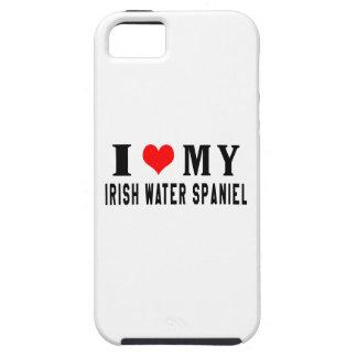 Amo mi perro de aguas de agua irlandesa iPhone 5 Case-Mate cobertura